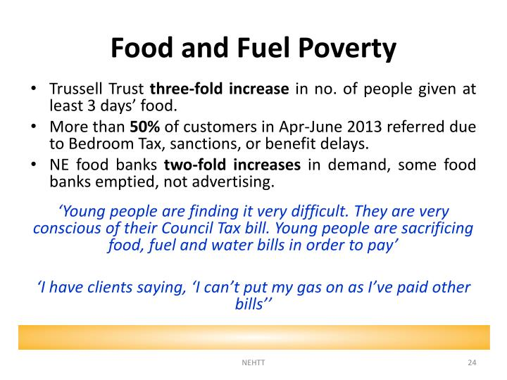 Food and Fuel Poverty