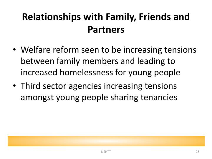 Relationships with Family, Friends and Partners