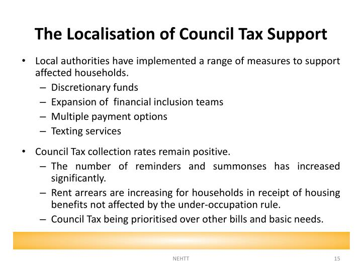 The Localisation of Council Tax
