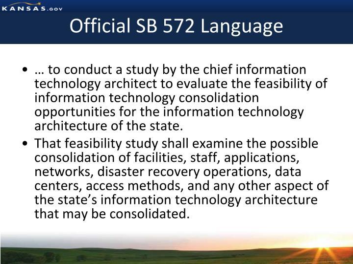 Official SB 572 Language
