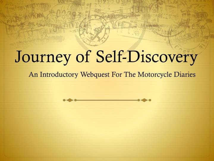 journey of self discovery n.