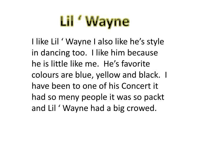 Lil ' Wayne
