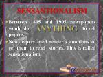 sensantionalism