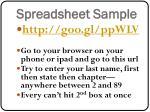 spreadsheet sample