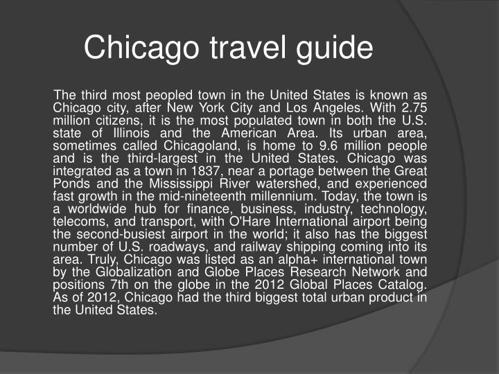 chicago travel guide n.