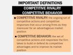competitive rivalry competitive behavior