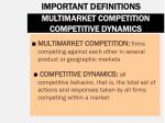 multimarket competition competitive dynamics