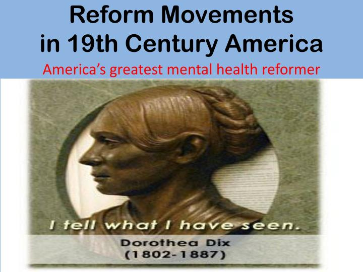 reform movements in america essay