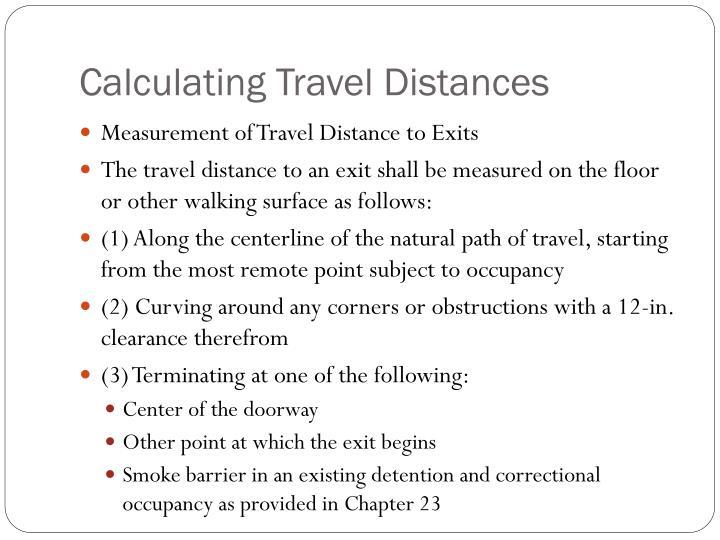 Calculating Travel Distances