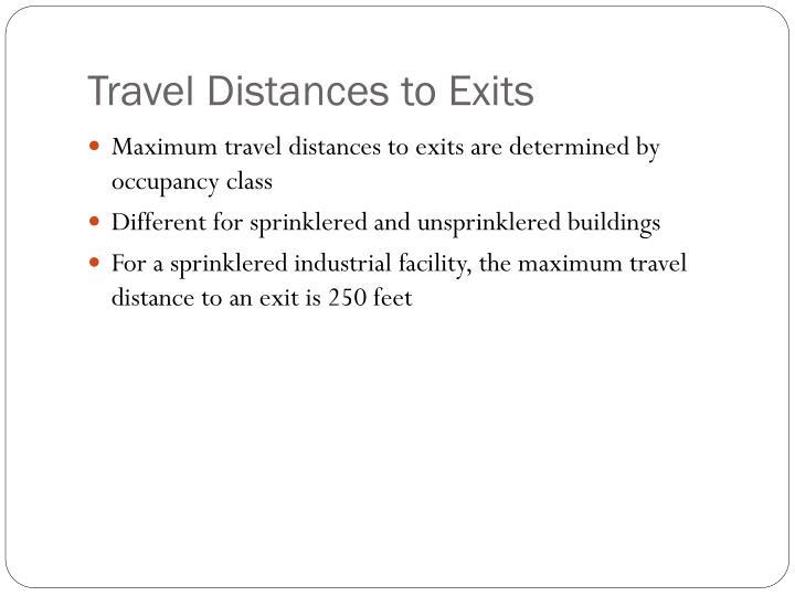 Travel Distances to Exits