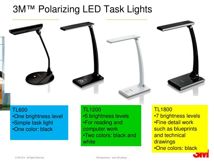 3m polarizing led task lights n.