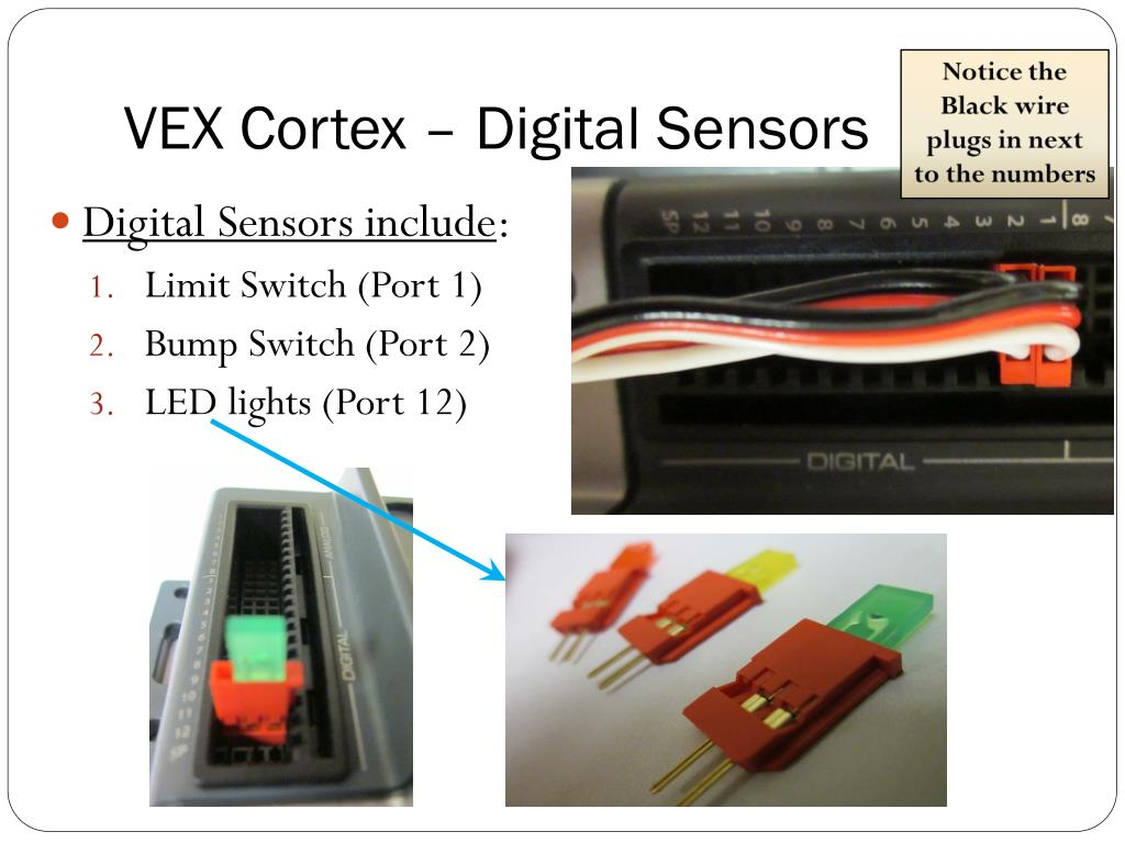 vex cortex – digital sensors