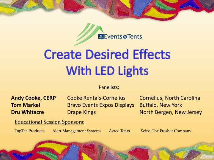 PPT - Create Desired Effects With LED Lights PowerPoint