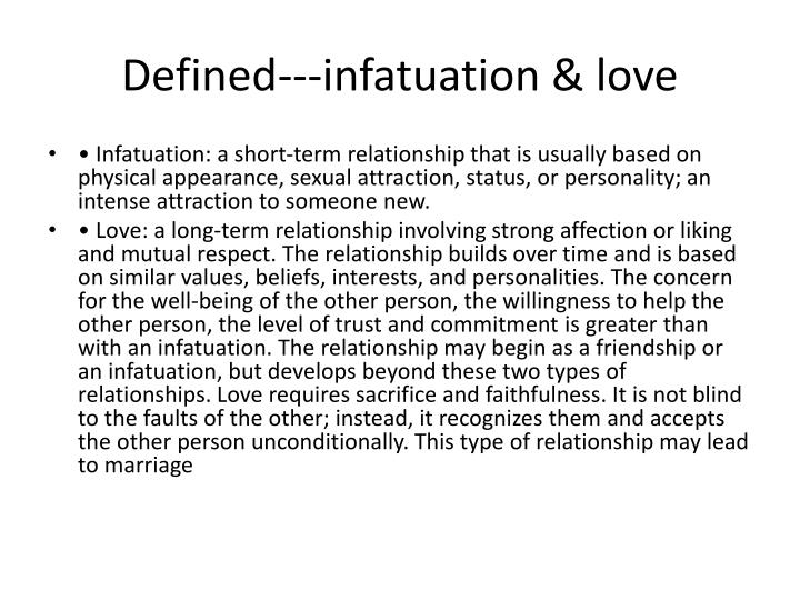 Meaning of infatuation love