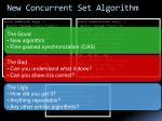 new concurrent set algorithm
