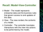 recall model view controller