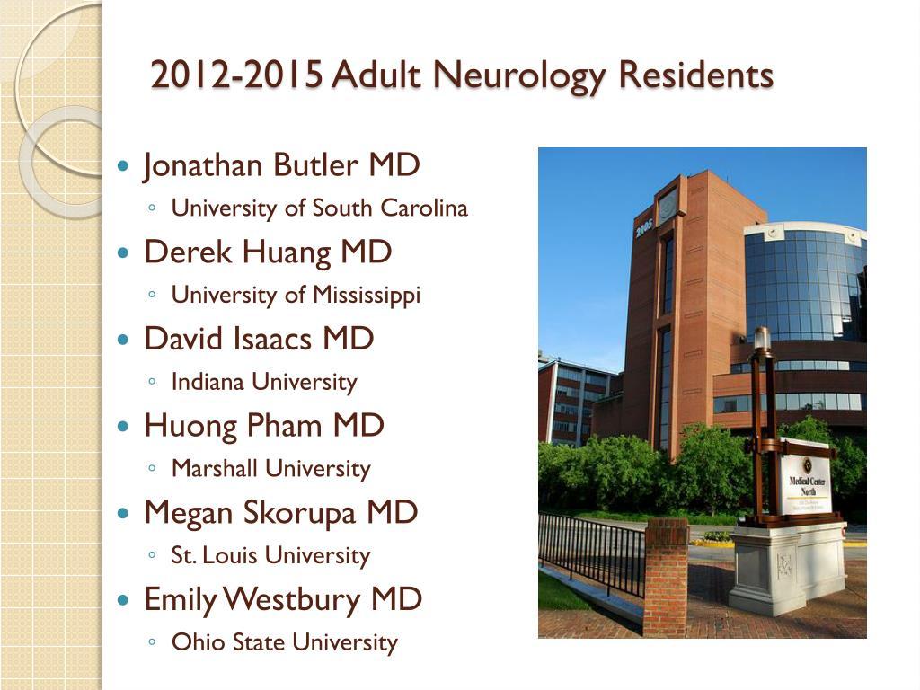 PPT - Neurology Residency Programs Vanderbilt University