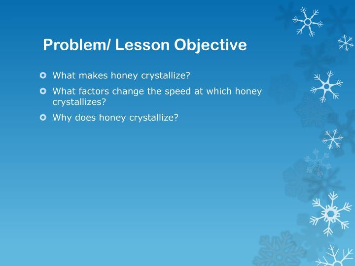 Problem lesson objective