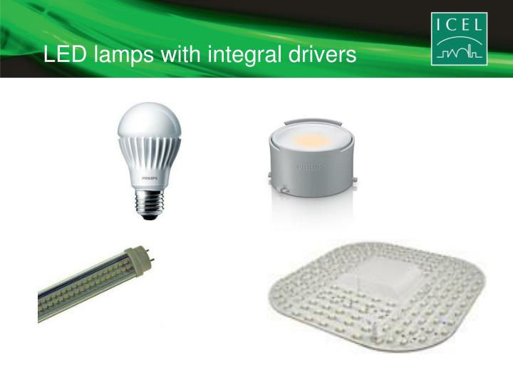 LED lamps with integral drivers