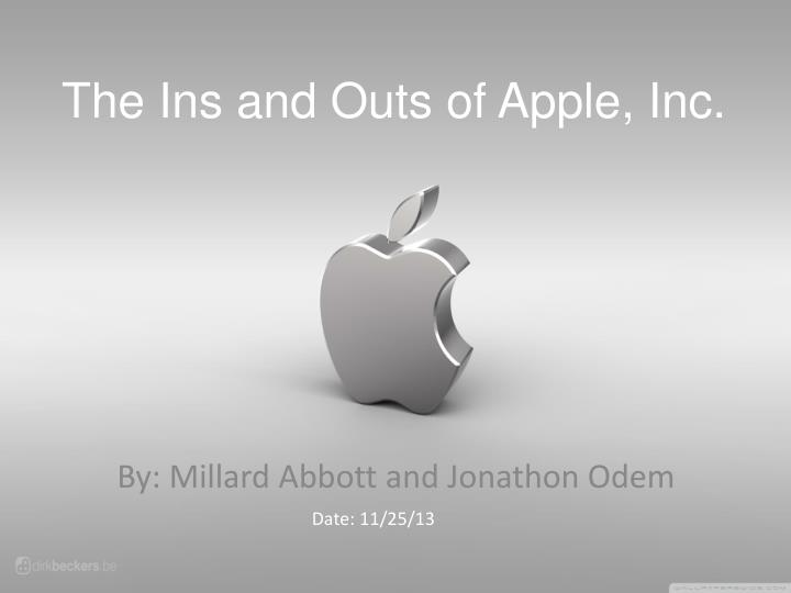 the ins and outs of apple inc n.