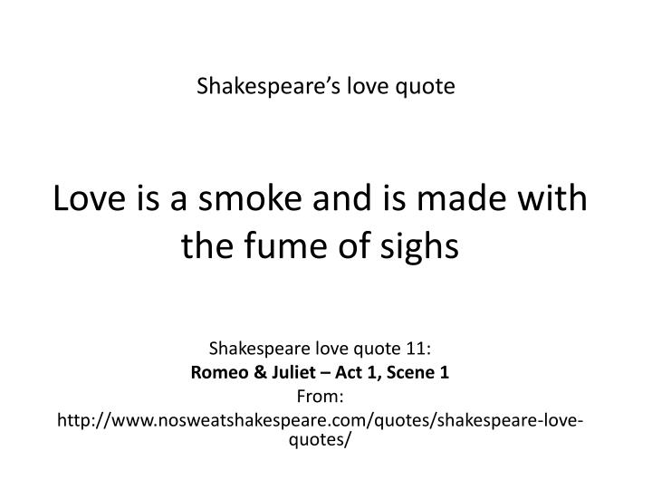 Shakespeare's love quote