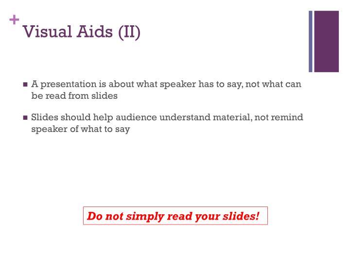 Visual Aids (II)