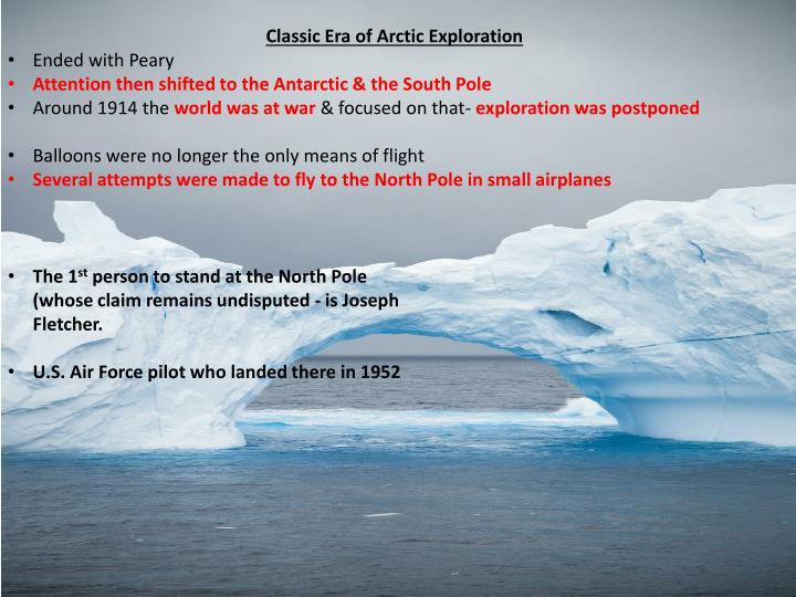 Classic Era of Arctic Exploration