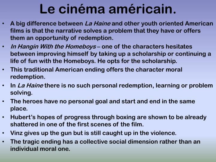 Le cinéma américain.