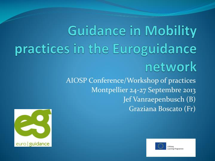 guidance in mobility practices in the euroguidance network n.