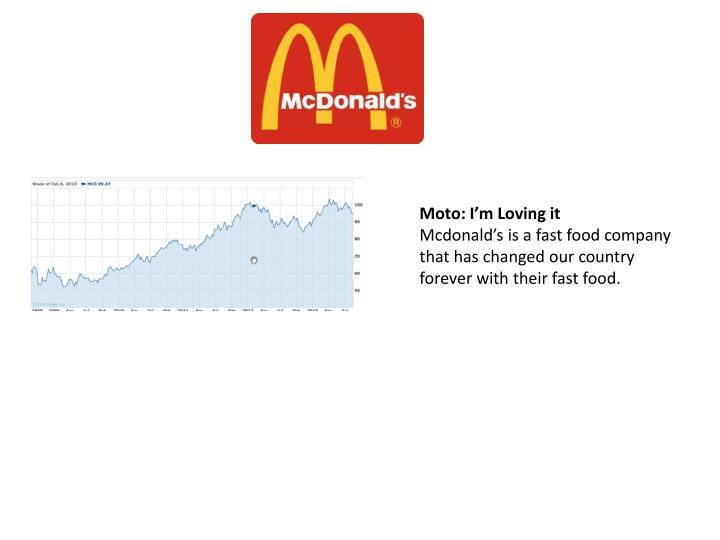 Moto: I'm Loving it