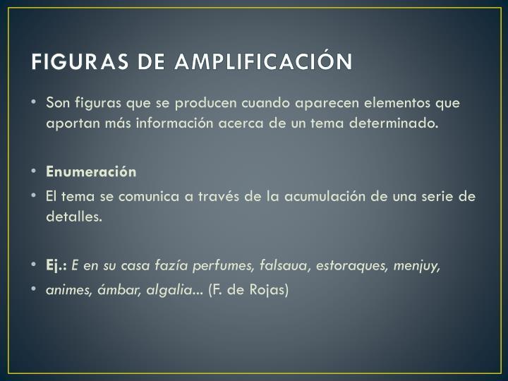 FIGURAS DE AMPLIFICACIÓN