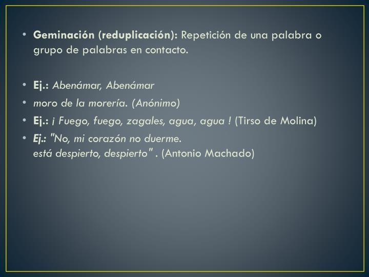 Geminación (reduplicación