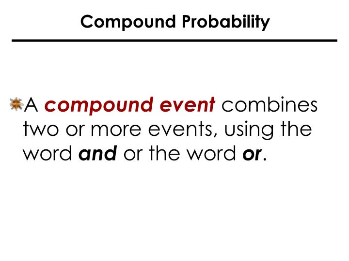 Compound Probability