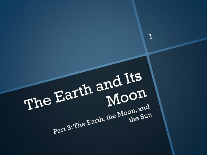 the earth and its moon n.