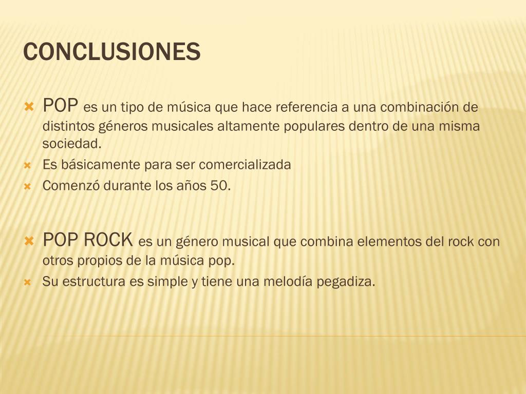 Ppt Pop Pop Rock Powerpoint Presentation Free Download