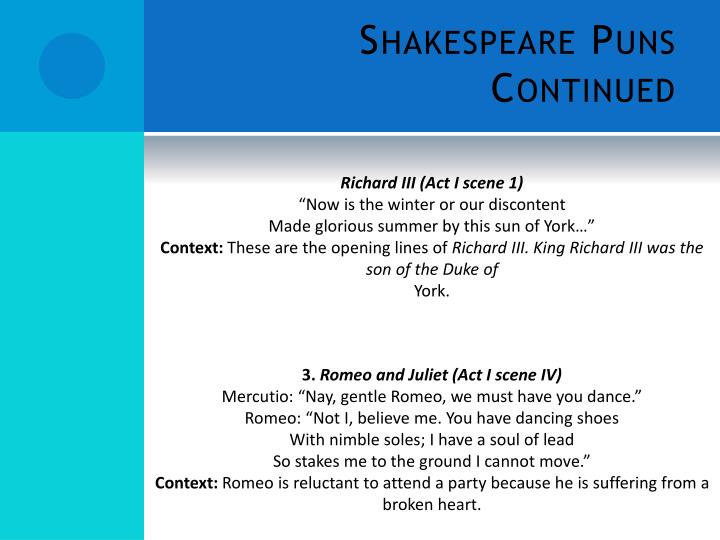 puns in romeo and juliet act 1 scene 1