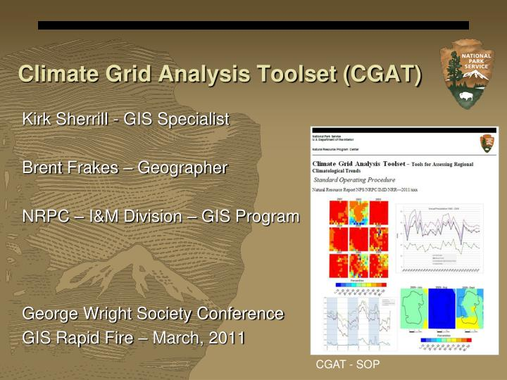 Climate grid analysis toolset cgat