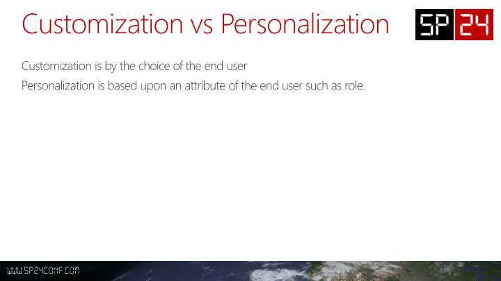 Customization vs Personalization
