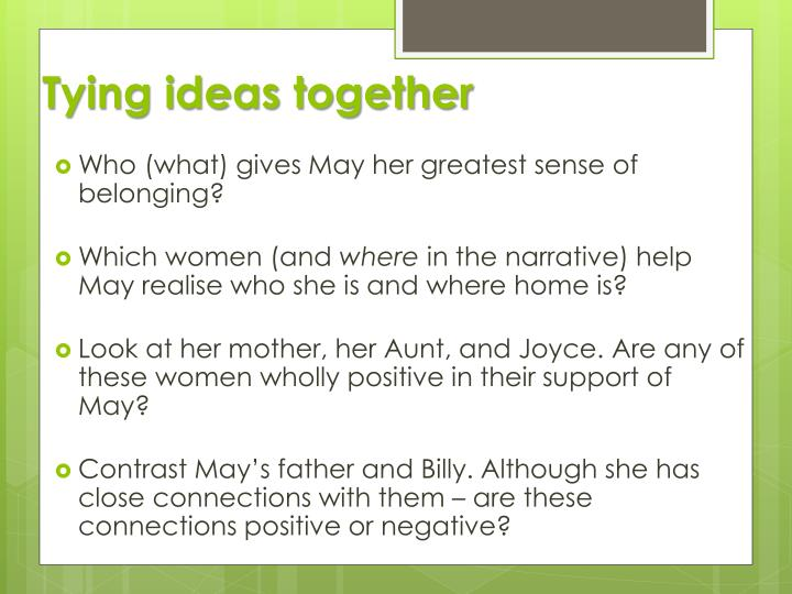 Tying ideas together