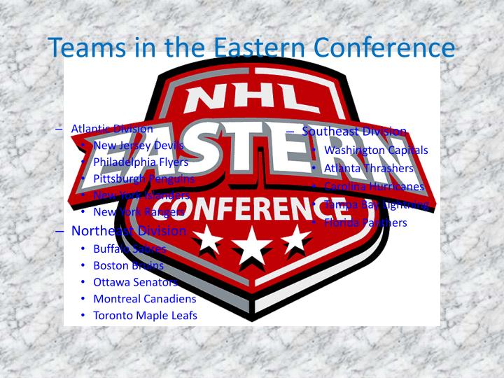 Teams in the eastern conference