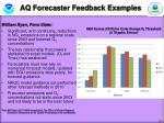 aq forecaster feedback examples