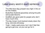 label every word in each sentence
