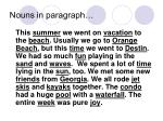 nouns in paragraph