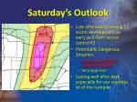 saturday s outlook