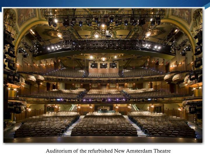 Auditorium of the refurbished New Amsterdam Theatre