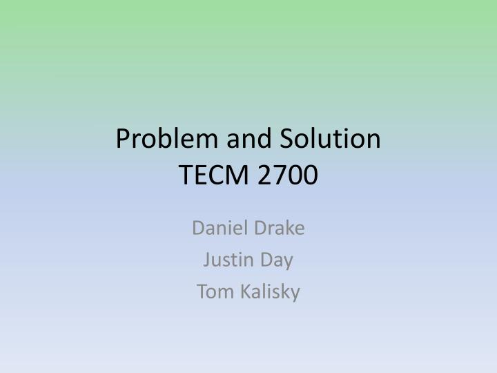 problem and solution tecm 2700 n.
