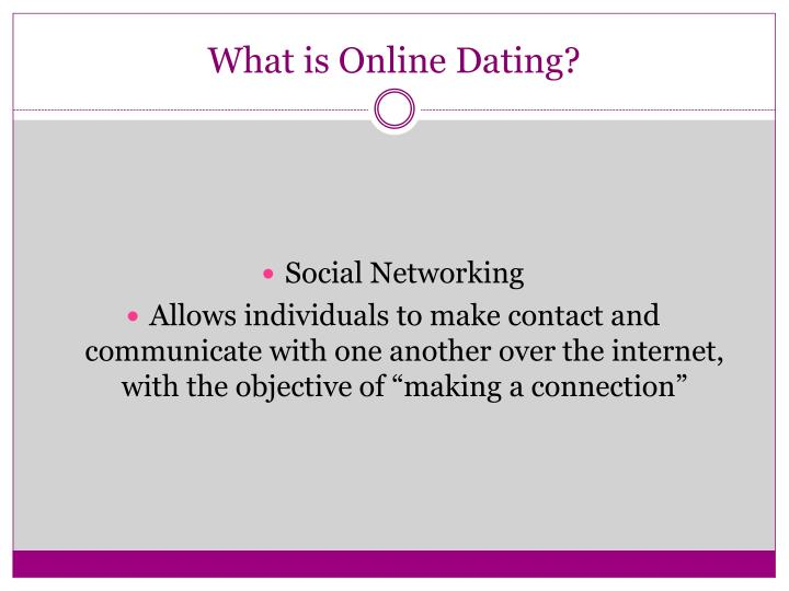 Online dating presentation example