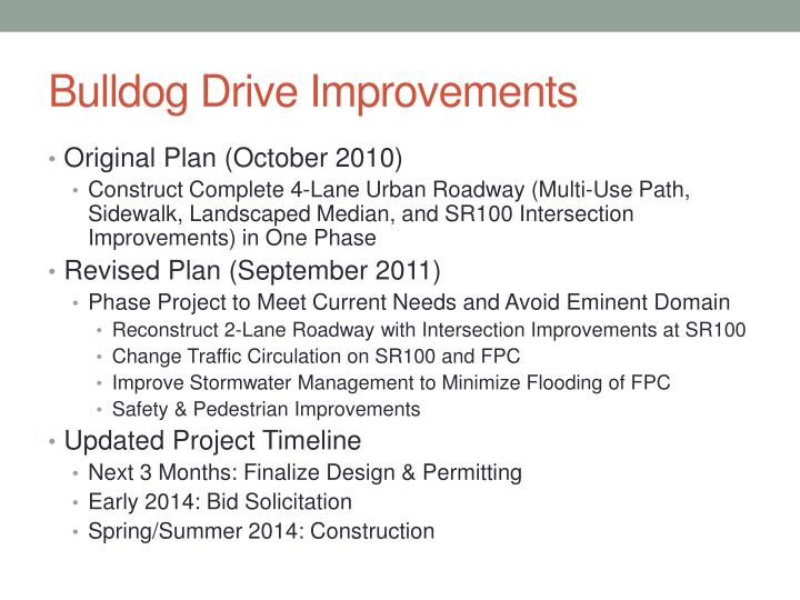 Bulldog Drive Improvements