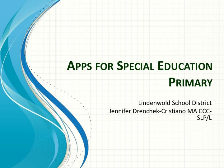 apps for special education primary n.
