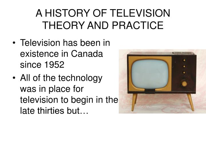 a history of television theory and practice n.